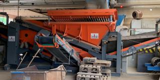 Rohstoffaufbereitung Recycling Siebanlage